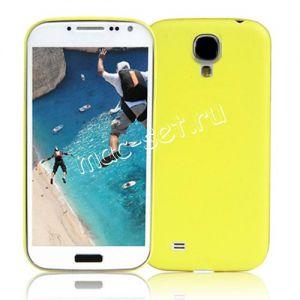 Чехол-накладка пластиковый для Samsung Galaxy S4 I9500 ультратонкий (желтый)
