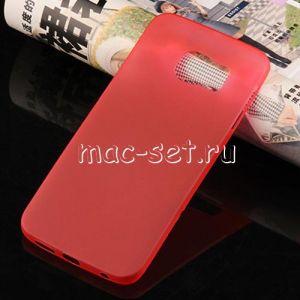 Чехол-накладка пластиковый для Samsung Galaxy S6 G920F ультратонкий (красный)