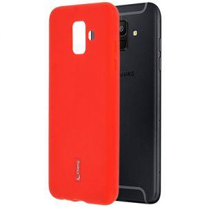 Чехол-накладка силиконовый для Samsung Galaxy A6 (2018) A600 (красный) Cherry