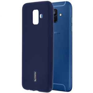 Чехол-накладка силиконовый для Samsung Galaxy A6 (2018) A600 (синий) Cherry