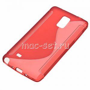 Чехол-накладка силиконовый для Samsung Galaxy Note 4 N910 (красный) S-Line