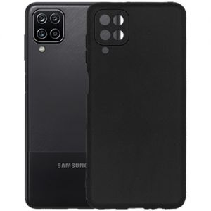 Чехол-накладка силиконовый для Samsung Galaxy A12 A125 (черный) MatteCover