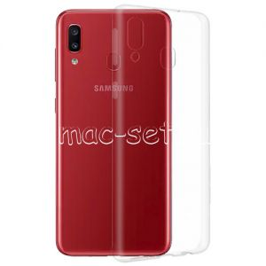 Чехол-накладка силиконовый для Samsung Galaxy A20 A205 (прозрачный 0.5мм)