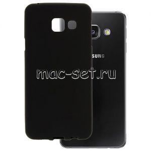 Чехол-накладка силиконовый для Samsung Galaxy A3 (2016) A310 (черный 0.8мм)