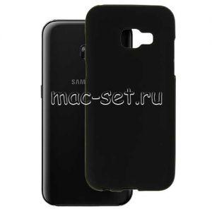 Чехол-накладка силиконовый для Samsung Galaxy A3 (2017) A320 (черный 0.8мм)