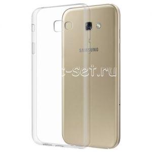 Чехол-накладка силиконовый для Samsung Galaxy A3 (2017) A320 (прозрачный 0.5мм)
