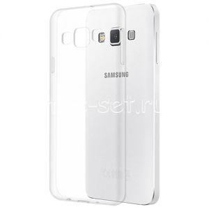 Чехол-накладка силиконовый для Samsung Galaxy A3 A300 (прозрачный 0.5мм)