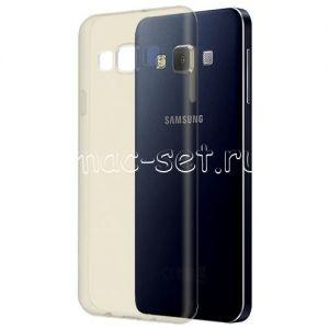 Чехол-накладка силиконовый для Samsung Galaxy A3 A300 (серый 0.5мм)