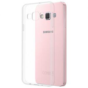 Чехол-накладка силиконовый для Samsung Galaxy A3 A300 (прозрачный 1.0мм)