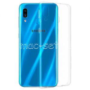 Чехол-накладка силиконовый для Samsung Galaxy A30 A305 (прозрачный 0.5мм)