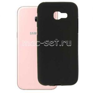Чехол-накладка силиконовый для Samsung Galaxy A5 (2017) A520 (черный 0.8мм)