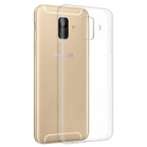 Чехол-накладка силиконовый для Samsung Galaxy A6 (2018) A600 (прозрачный 1.0мм)