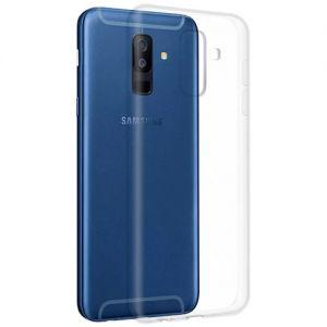 Чехол-накладка силиконовый для Samsung Galaxy A6+ (2018) A605 (прозрачный 1.0мм)