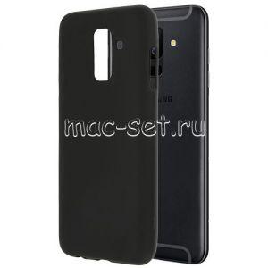 Чехол-накладка силиконовый для Samsung Galaxy A6+ (2018) A605 (черный 0.8мм)