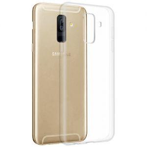 Чехол-накладка силиконовый для Samsung Galaxy A6+ (2018) A605 (прозрачный) iBox Crystal