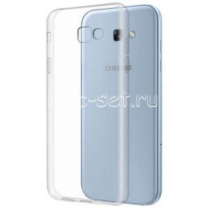 Чехол-накладка силиконовый для Samsung Galaxy A7 (2017) A720 (прозрачный 0.5мм)