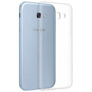 Чехол-накладка силиконовый для Samsung Galaxy A7 (2017) A720 (прозрачный 1.0мм)