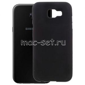 Чехол-накладка силиконовый для Samsung Galaxy A7 (2017) A720 (черный 0.8мм)