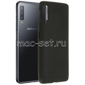 Чехол-накладка силиконовый для Samsung Galaxy A7 (2018) A750 (черный 0.8мм)