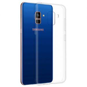 Чехол-накладка силиконовый для Samsung Galaxy A8 (2018) A530 (прозрачный 1.0мм)