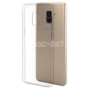 Чехол-накладка силиконовый для Samsung Galaxy A8 (2018) A530 (прозрачный 0.5мм)