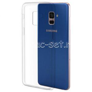 Чехол-накладка силиконовый для Samsung Galaxy A8+ (2018) A730 (прозрачный 0.5мм)