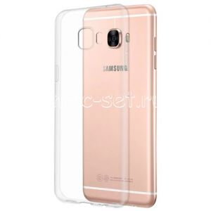 Чехол-накладка силиконовый для Samsung Galaxy C5 C5000 (прозрачный 0.5мм)