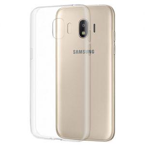 Чехол-накладка силиконовый для Samsung Galaxy J2 (2018) J250 [толщина 1.0 мм] (прозрачный)
