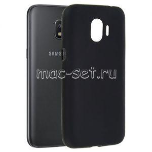 Чехол-накладка силиконовый для Samsung Galaxy J2 (2018) J250 (черный 0.8мм)
