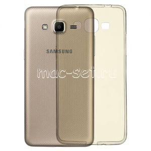 Чехол-накладка силиконовый для Samsung Galaxy J2 Prime G532 (серый 0.5мм)