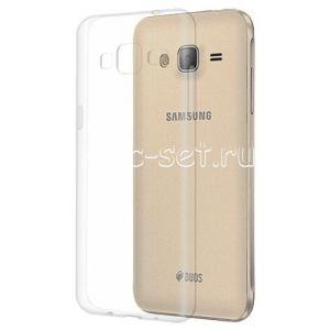 Чехол-накладка силиконовый для Samsung Galaxy J3 (2016) J320 (прозрачный 0.5мм)