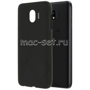 Чехол-накладка силиконовый для Samsung Galaxy J4 (2018) J400 (черный 0.8мм)