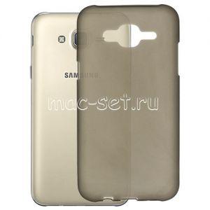 Чехол-накладка силиконовый для Samsung Galaxy J5 J500 (серый)