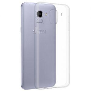 Чехол-накладка силиконовый для Samsung Galaxy J6 (2018) J600 (прозрачный 1.0мм)