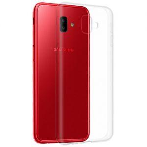 Чехол-накладка силиконовый для Samsung Galaxy J6+ J610 (прозрачный 1.0мм)