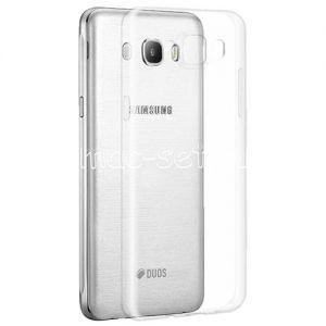 Чехол-накладка силиконовый для Samsung Galaxy J7 (2016) J710 (прозрачный 0.5мм)