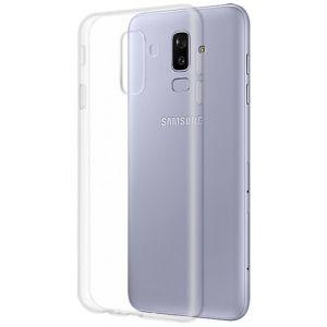 Чехол-накладка силиконовый для Samsung Galaxy J8 J810 (прозрачный 1.0мм)