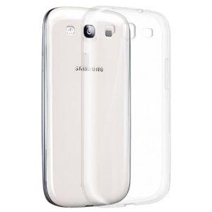 Чехол-накладка силиконовый для Samsung Galaxy S3 I9300 (прозрачный 1.0мм)