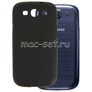 Чехол-накладка силиконовый для Samsung Galaxy S3 I9300 (черный 0.8мм)