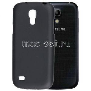 Чехол-накладка силиконовый для Samsung Galaxy S4 mini I9190 / I9192 / I9195 (черный 0.8мм)