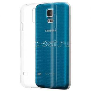 Чехол-накладка силиконовый для Samsung Galaxy S5 G900 (прозрачный 0.5мм)