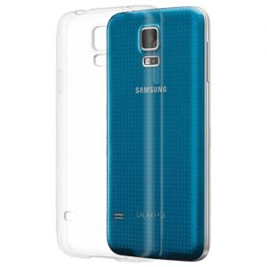 Чехол-накладка силиконовый для Samsung Galaxy S5 G900 (прозрачный 1.0мм)