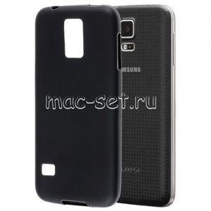 Чехол-накладка силиконовый для Samsung Galaxy S5 G900 (черный 0.8мм)