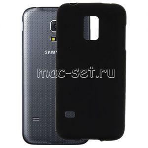 Чехол-накладка силиконовый для Samsung Galaxy S5 mini G800 (черный 0.8мм)