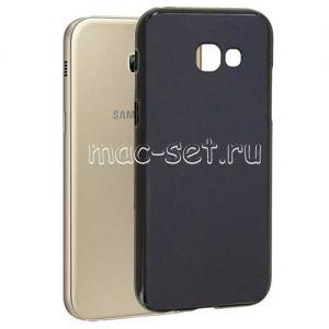 Чехол-накладка силиконовый для Samsung Galaxy A3 (2017) A320 (черный 0.8мм) Soft-Touch