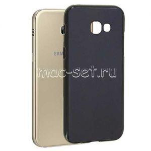 Чехол-накладка силиконовый для Samsung Galaxy A5 (2017) A520 (черный 0.8мм) Soft-Touch
