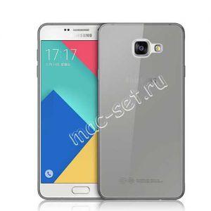 Чехол-накладка силиконовый для Samsung Galaxy A3 (2016) A310 (серый 0.3мм)