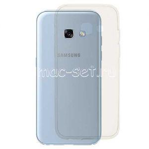 Чехол-накладка силиконовый для Samsung Galaxy A3 (2017) A320 (прозрачный 0.3мм)