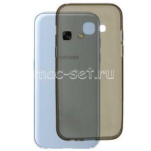 Чехол-накладка силиконовый для Samsung Galaxy A3 (2017) A320 (серый 0.3мм)