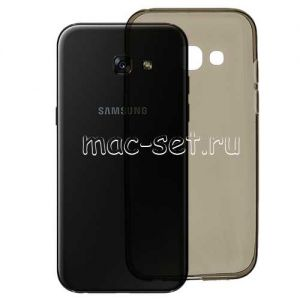 Чехол-накладка силиконовый для Samsung Galaxy A5 (2017) A520 [толщина 0.3 мм] (серый)